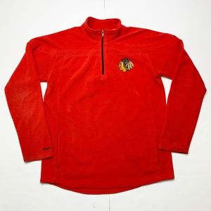 Reebok NHL Chicago Blackhawks 1/4 Zip Fleece